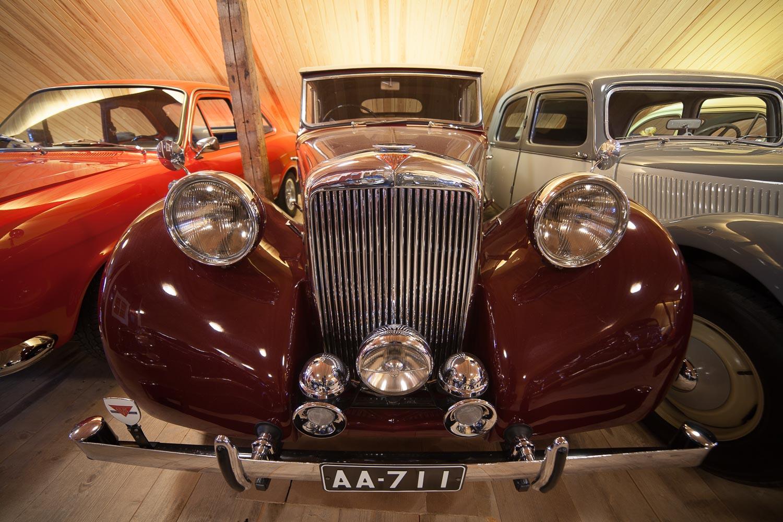 Autoja Antin automuseossa.